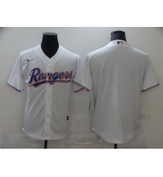 Men Nike Texas Rangers White blank 2020 Authentic Official Team MLB Jersey