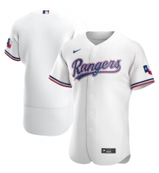 Men Texas Rangers Men Nike White Home 2020 Flex Base MLB Jersey