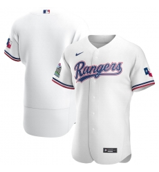 Men Texas Rangers Men Nike White Home 2020 Flex Base Team MLB Jersey