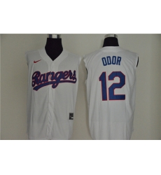 Rangers 12 Rougned Odor White Nike Cool Base Sleeveless Jerseys