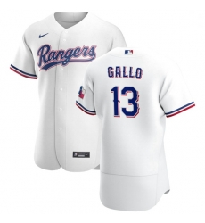 Texas Rangers 13 Joey Gallo Men Nike White Home 2020 Authentic Player MLB Jersey