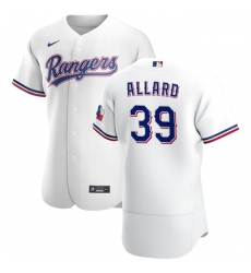 Texas Rangers 39 Kolby Allard Men Nike White Home 2020 Authentic Player MLB Jersey