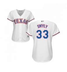 Womens Texas Rangers 33 Drew Smyly Replica White Home Cool Base Baseball Jersey