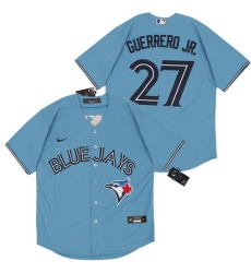 Blue Jays 27 Vladimir Guerrero Jr  Light Blue 2020 Nike Cool Base Jersey