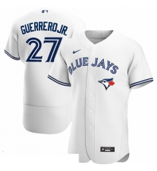 Men Toronto Blue Jays 27 Vladimir Guerrero Jr  Men Nike White Home 2020 Flex Base Player MLB Jersey