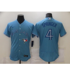 Men Toronto Blue Jays 4 George Springer Blue Stitched MLB Flex Base Nike Jersey
