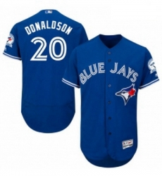 Mens Majestic Toronto Blue Jays 20 Josh Donaldson Blue Alternate Flex Base Authentic Collection MLB Jersey