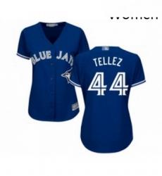 Womens Toronto Blue Jays 44 Rowdy Tellez Replica Blue Alternate Baseball Jersey