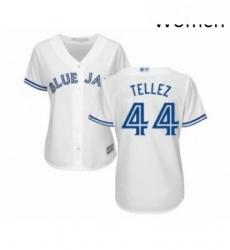 Womens Toronto Blue Jays 44 Rowdy Tellez Replica White Home Baseball Jersey