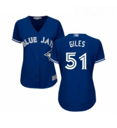 Womens Toronto Blue Jays 51 Ken Giles Replica Blue Alternate Baseball Jersey