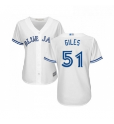 Womens Toronto Blue Jays 51 Ken Giles Replica White Home Baseball Jersey