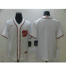 Men Washington Nationals Blank White Stitched MLB Cool Base Nike Jersey