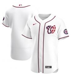 Men Washington Nationals Men Nike White Alternate 2020 Flex Base MLB Jersey