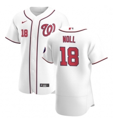 Washington Nationals 18 Jake Noll Men Nike White Home 2020 Authentic Player MLB Jersey