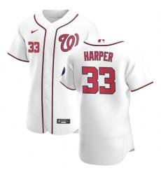 Washington Nationals 33 Ryne Harper Men Nike White Home 2020 Authentic Player MLB Jersey