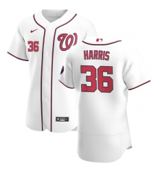 Washington Nationals 36 Will Harris Men Nike White Home 2020 Authentic Player MLB Jersey