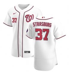 Washington Nationals 37 Stephen Strasburg Men Nike White Home 2020 Authentic Player MLB Jersey