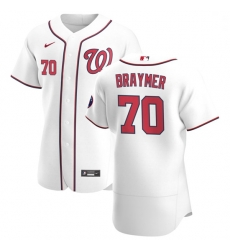 Washington Nationals 70 Ben Braymer Men Nike White Home 2020 Authentic Player MLB Jersey