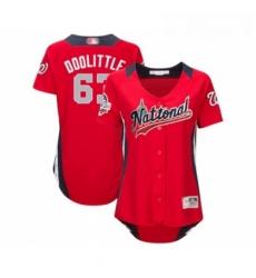 Womens Washington Nationals 63 Sean Doolittle Game Red National League 2018 Baseball All Star Baseball Jersey