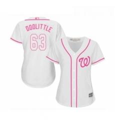 Womens Washington Nationals 63 Sean Doolittle Replica White Fashion Cool Base Baseball Jersey
