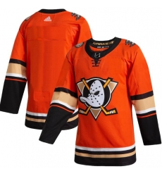 All Size Anaheim Ducks adidas Orange Home Authentic Blank Jersey