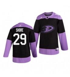 Ducks 29 Devin Shore Black Purple Hockey Fights Cancer Adidas Jersey
