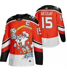 Men Anaheim Ducks 15 Ryan Getzlaf Red Adidas 2020 21 Reverse Retro Alternate NHL Jersey