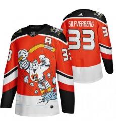 Men Anaheim Ducks 33 Jakob Silfverberg Red Adidas 2020 21 Reverse Retro Alternate NHL Jersey