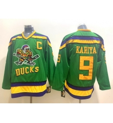 Men Anaheim Ducks 9 Paul Kariya Green CCM jersey