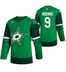 Men Dallas Stars 9 Mike Modano Green 2020 Adidas Jersey