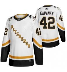 Men Penguins 42 Kasperi Kapanen 2021 Reverse Retro White Jersey