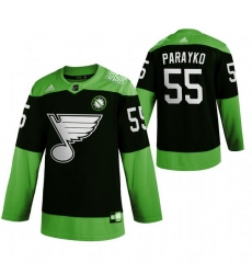 Men St.Louis Blues 55 Colton Parayko Green 2020 Adidas Jersey