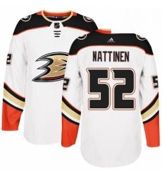 Mens Adidas Anaheim Ducks 52 Julius Nattinen Authentic White Away NHL Jersey