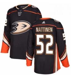 Mens Adidas Anaheim Ducks 52 Julius Nattinen Premier Black Home NHL Jersey
