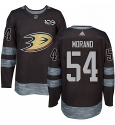 Mens Adidas Anaheim Ducks 54 Antoine Morand Authentic Black 1917 2017 100th Anniversary NHL Jersey