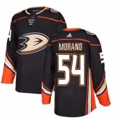 Mens Adidas Anaheim Ducks 54 Antoine Morand Premier Black Home NHL Jersey