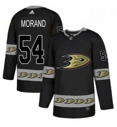 Mens Adidas Anaheim Ducks 54 Antoine Morand Premier Black Team Logo Fashion NHL Jersey