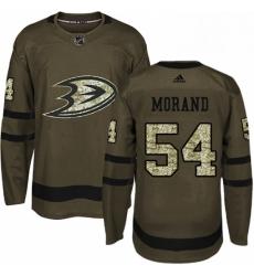 Mens Adidas Anaheim Ducks 54 Antoine Morand Premier Green Salute to Service NHL Jersey