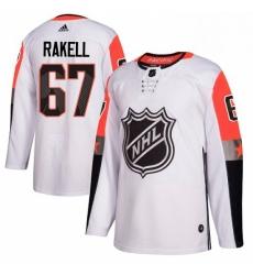 Mens Adidas Anaheim Ducks 67 Rickard Rakell Authentic White 2018 All Star Pacific Division NHL Jersey