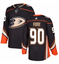 Mens Adidas Anaheim Ducks 90 Giovanni Fiore Authentic Black Home NHL Jersey