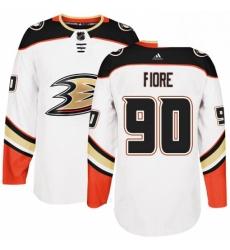 Mens Adidas Anaheim Ducks 90 Giovanni Fiore Authentic White Away NHL Jersey