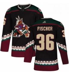 Mens Adidas Arizona Coyotes 36 Christian Fischer Premier Black Alternate NHL Jersey
