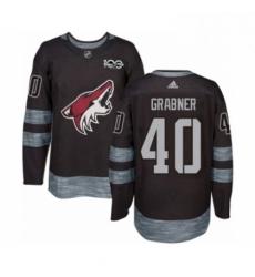 Mens Adidas Arizona Coyotes 40 Michael Grabner Authentic Black 1917 2017 100th Anniversary NHL Jersey