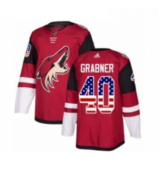Mens Adidas Arizona Coyotes 40 Michael Grabner Authentic Red USA Flag Fashion NHL Jersey