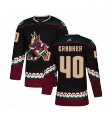Mens Adidas Arizona Coyotes 40 Michael Grabner Premier Black Alternate NHL Jersey