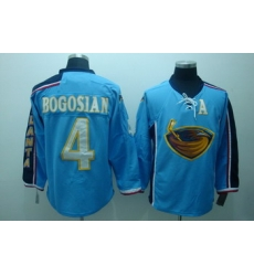 Atlanta Thrashers 4 Zach Bogosian Blue Jerseys With C Patch