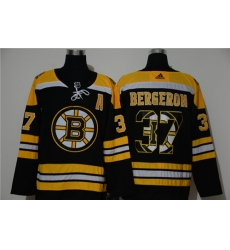 Bruins 37 Patrice Bergeron Black Adidas Fashion Jersey