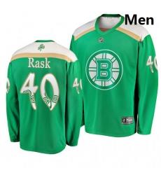 Bruins 40 Tuukka Rask Green 2019 St  Patrick Day Adidas Jersey