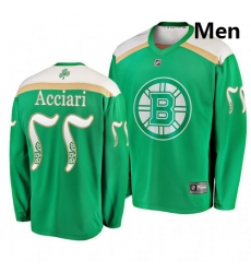 Bruins 77 Noel Acciari Green 2019 St  Patrick Day Adidas Jersey