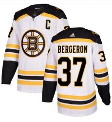 Men Adidas Boston Bruins #37 Patrice Bergeron White NHL Jersey